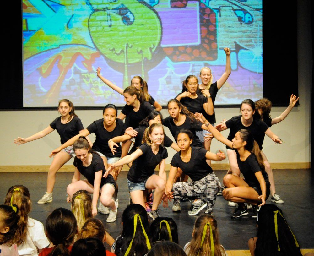 Inset 3 Hip Hop group perform